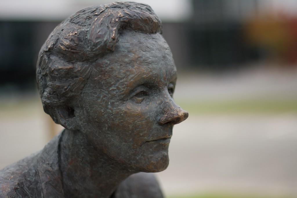Astrid Lindgren, bronzeskulptur